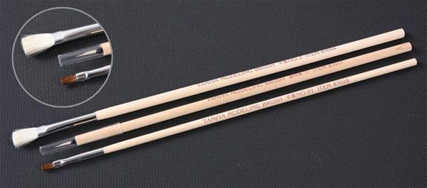 Jogo de 3 pinceis básicos - Tamiya 87066  - BLIMPS COMÉRCIO ELETRÔNICO