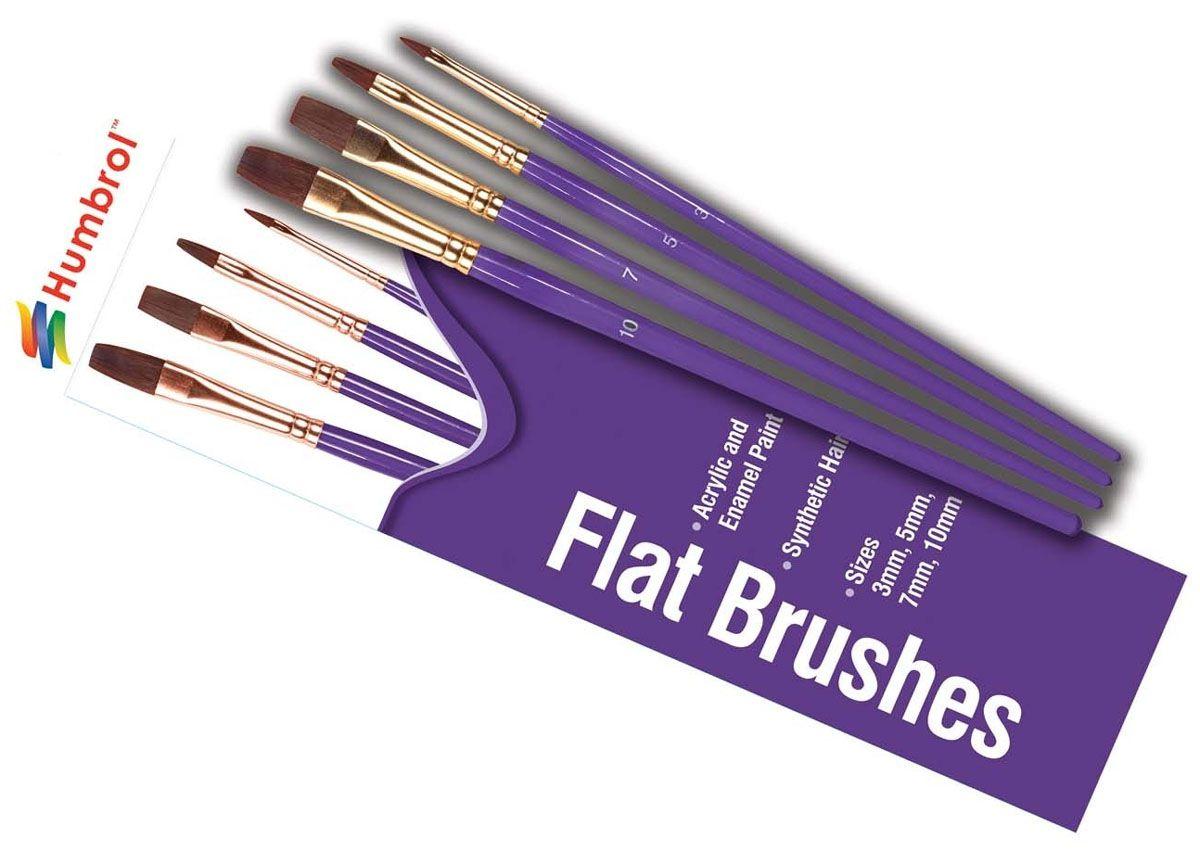 Jogo de 4 pincéis Flat Brush Pack - Humbrol AG4305  - BLIMPS COMÉRCIO ELETRÔNICO