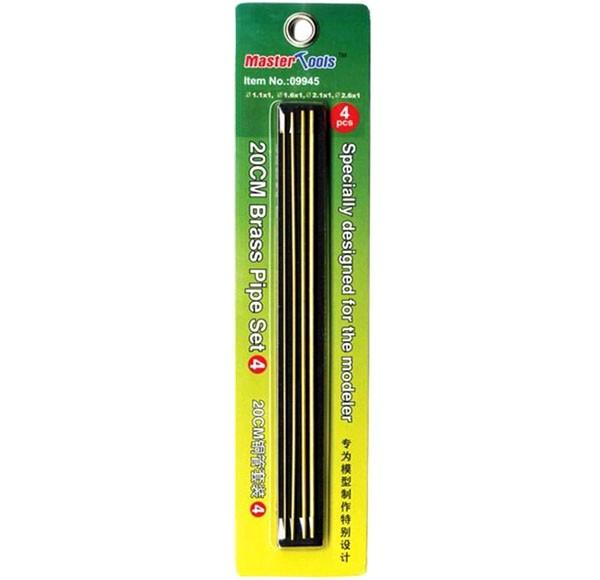 Jogo de 4 tubos de latão - Set 4 - Master Tools 09945  - BLIMPS COMÉRCIO ELETRÔNICO