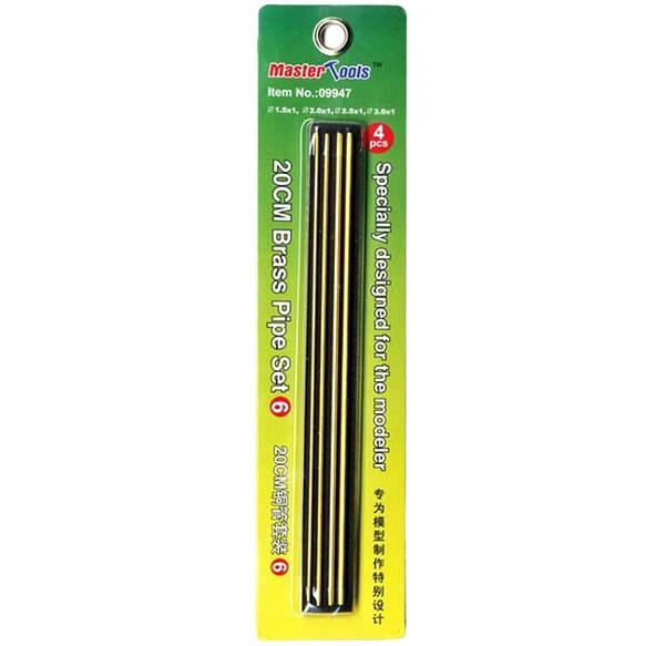 Jogo de 4 tubos de latão - Set 6 - Master Tools 09947  - BLIMPS COMÉRCIO ELETRÔNICO