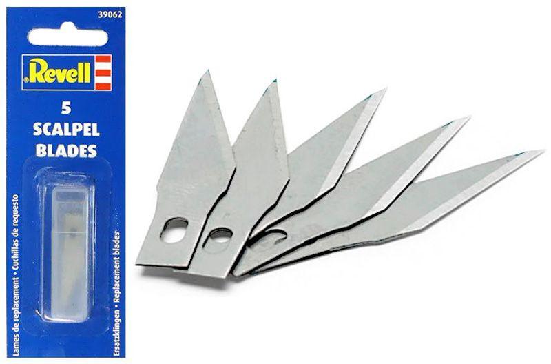 Jogo de 5 lâminas sobressalentes para estilete 39059 - Revell 39062  - BLIMPS COMÉRCIO ELETRÔNICO
