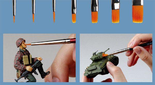 Jogo de 7 pincéis para modelismo - Master Tools 09900  - BLIMPS COMÉRCIO ELETRÔNICO