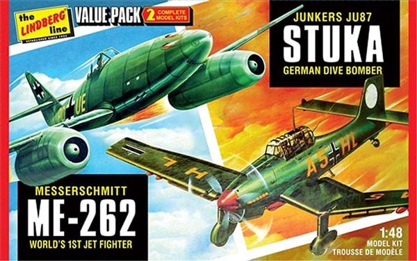 JU87 Stuka e ME-262 - 1/48 - Lindberg HL508  - BLIMPS COMÉRCIO ELETRÔNICO