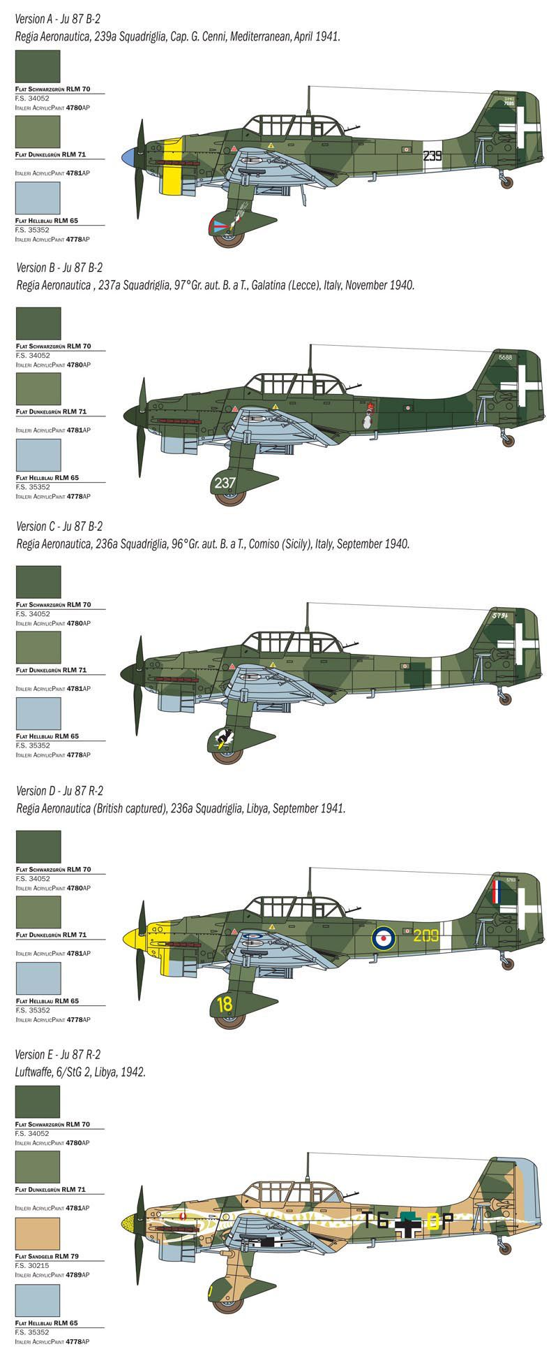 JU 87 B-2/R-2 PICCHIATELLO - 1/48 - Italeri 2769  - BLIMPS COMÉRCIO ELETRÔNICO