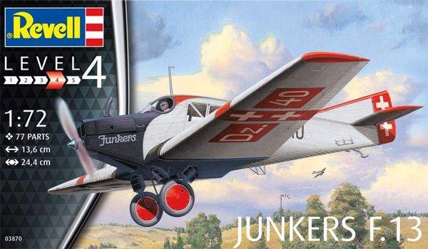 Junkers F.13 - 1/72 - Revell 03870  - BLIMPS COMÉRCIO ELETRÔNICO