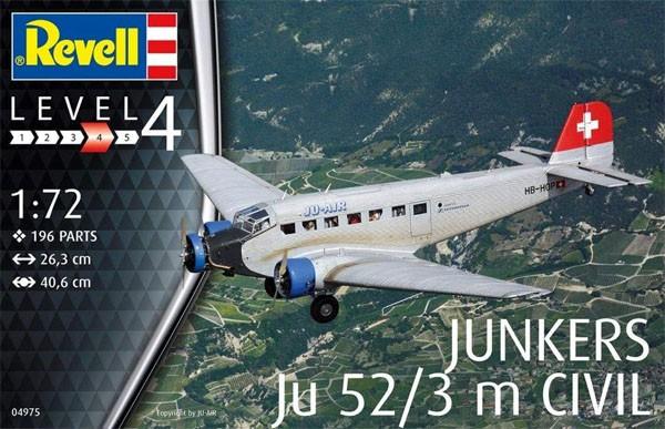 Junkers Ju52/3m Civil - 1/72 - Revell 04975  - BLIMPS COMÉRCIO ELETRÔNICO
