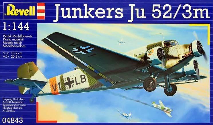 Junkers Ju 52/3m - 1/144 - Revell 04843  - BLIMPS COMÉRCIO ELETRÔNICO