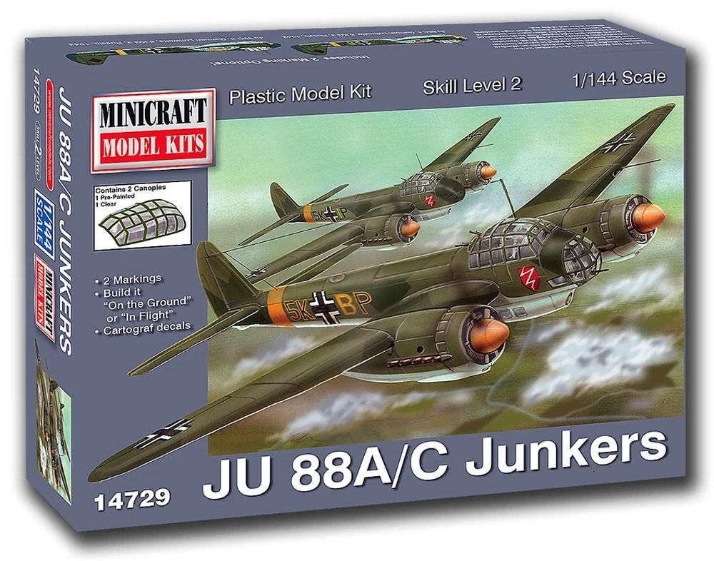 Junkers JU 88A/C - 1/144 - Minicraft 14729  - BLIMPS COMÉRCIO ELETRÔNICO