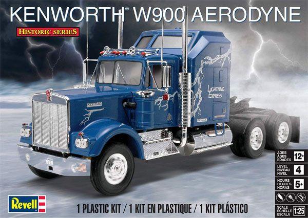 Kenworth W900 Aerodyne - 1/25 - Revell 85-1507  - BLIMPS COMÉRCIO ELETRÔNICO