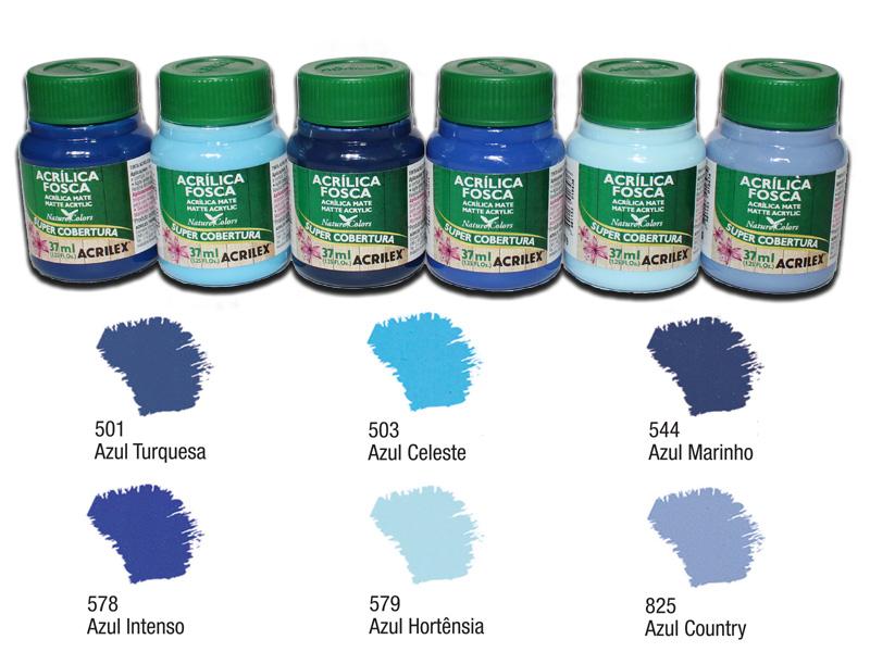 Kit A com 6 tintas acrílicas foscas Acrilex - Acrilex 035401  - BLIMPS COMÉRCIO ELETRÔNICO