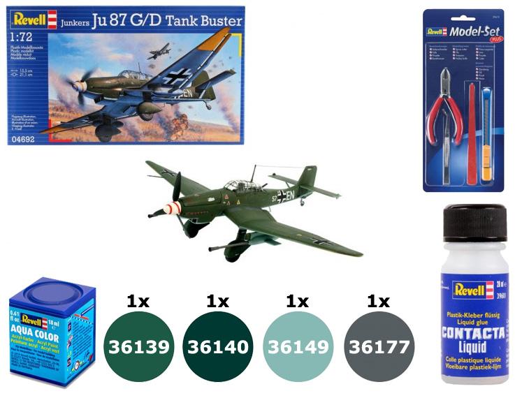 Kit do Junkers Ju-87 G/D Tank Buster - 1/72 - Revell 04692 + acessórios  - BLIMPS COMÉRCIO ELETRÔNICO