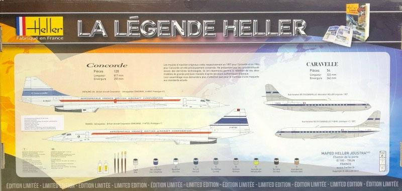 La Légende Set - Concorde e Caravelle 1/100 - Heller 52324  - BLIMPS COMÉRCIO ELETRÔNICO