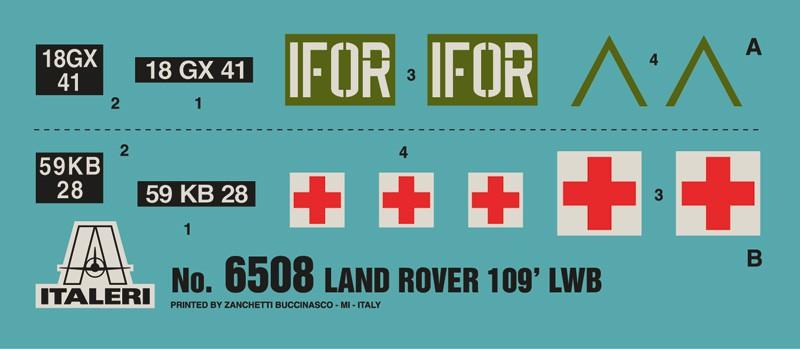 Land Rover 109' LWB - 1/35 - Italeri 6508  - BLIMPS COMÉRCIO ELETRÔNICO