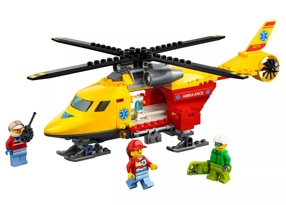 Lego City - Helicóptero-Ambulância - 60179  - BLIMPS COMÉRCIO ELETRÔNICO