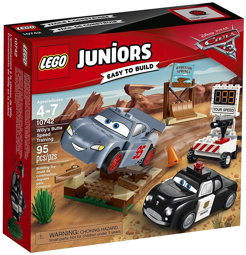 Lego Juniors - O Treino de Velocidade de Willy's Butte - 10742  - BLIMPS COMÉRCIO ELETRÔNICO