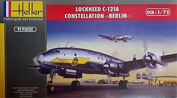 """Lockheed C-121A Constellation """"Berlin"""" - 1/72 - Heller 80382  - BLIMPS COMÉRCIO ELETRÔNICO"""