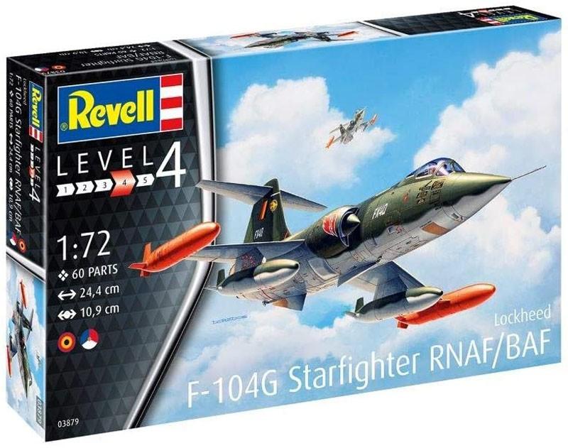 Lockheed F-104G Starfighter RNAF/BAF - 1/72 - Revell 03879  - BLIMPS COMÉRCIO ELETRÔNICO