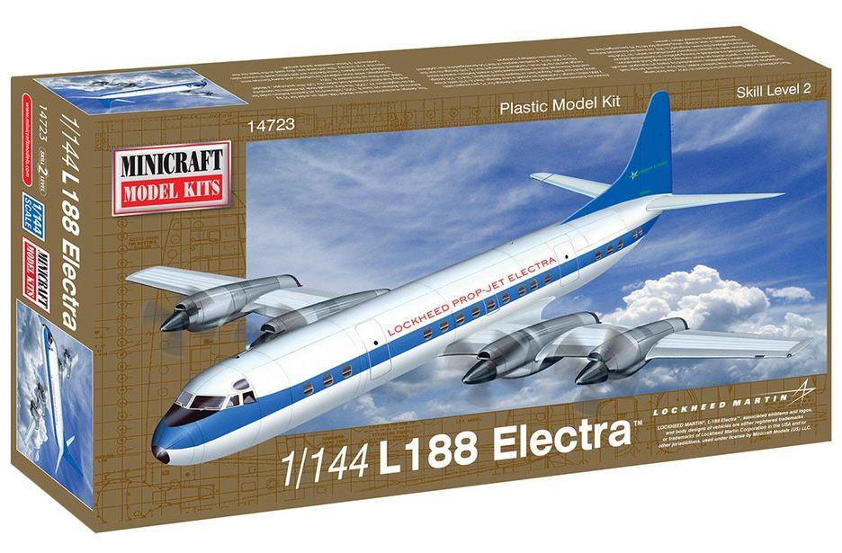 Lockheed L-188 Electra - 1/144 - Minicraft 14723  - BLIMPS COMÉRCIO ELETRÔNICO