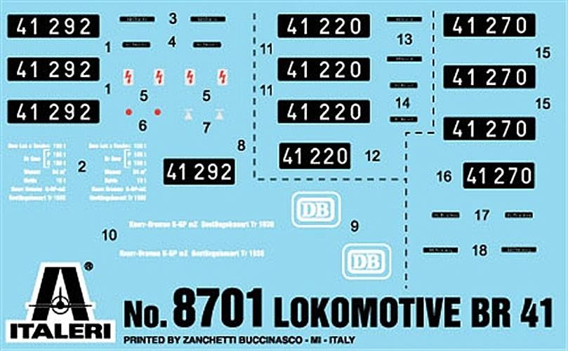 Locomotiva BR41 - 1/87 (HO) - Italeri 8701  - BLIMPS COMÉRCIO ELETRÔNICO