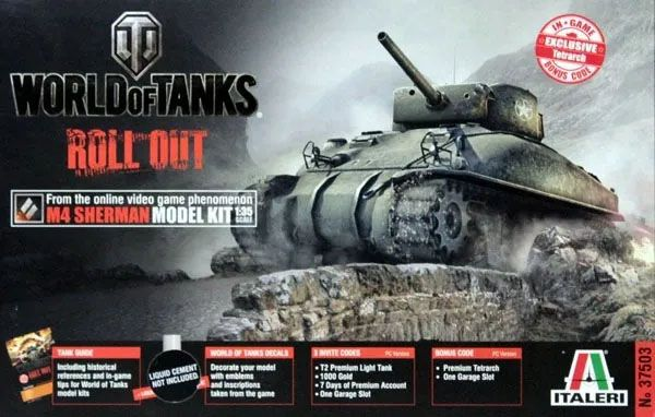 M4 Sherman - World of Tanks - 1/35 - Italeri 37503  - BLIMPS COMÉRCIO ELETRÔNICO