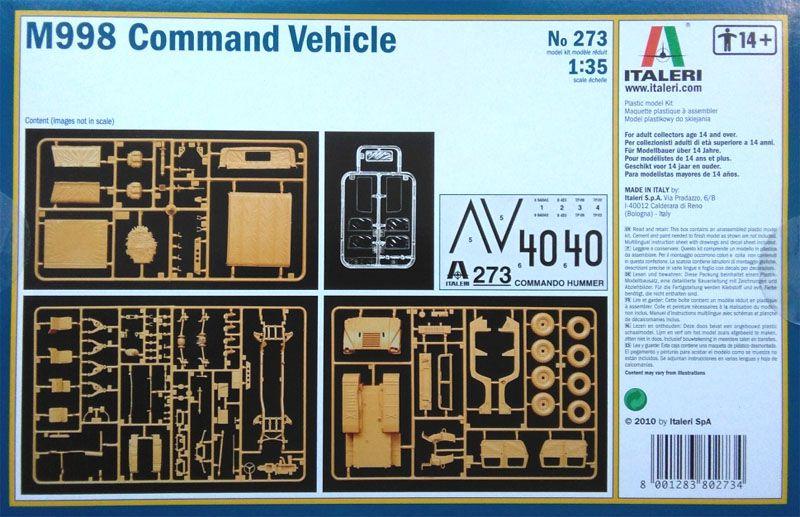 M998 Command  Vehicle - 1/35 - Italeri 273  - BLIMPS COMÉRCIO ELETRÔNICO