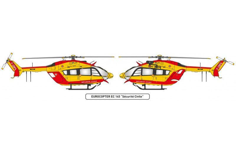 Maleta Eurocopter EC-145 Sécurité Civile - 1/72 - Heller 60375  - BLIMPS COMÉRCIO ELETRÔNICO