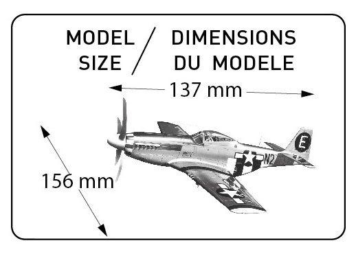 Maleta P-51D Mustang - 1/72 - Heller 60268  - BLIMPS COMÉRCIO ELETRÔNICO