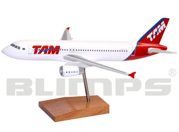 Maquete Airbus A320 TAM - 21 cm  - BLIMPS COMÉRCIO ELETRÔNICO