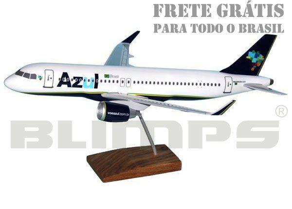 Maquete Airbus A320neo Azul - 38 cm  - BLIMPS COMÉRCIO ELETRÔNICO