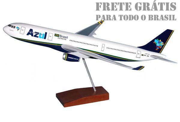 Maquete Airbus A330 Azul - 40 cm  - BLIMPS COMÉRCIO ELETRÔNICO