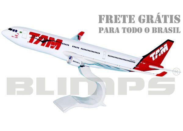 Maquete Airbus A330 TAM - 40 cm  - BLIMPS COMÉRCIO ELETRÔNICO