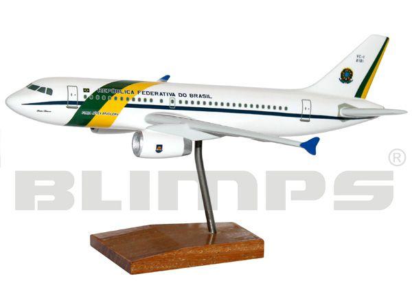 Maquete Airbus VC-1A (A319-133(CJ)) FAB - 20 cm  - BLIMPS COMÉRCIO ELETRÔNICO