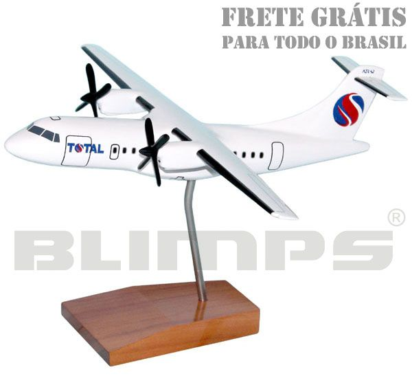 Maquete ATR 42-300 Total - 23 cm  - BLIMPS COMÉRCIO ELETRÔNICO