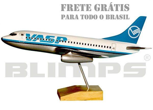 Maquete Boeing 737-200 VASP - 30 cm  - BLIMPS COMÉRCIO ELETRÔNICO
