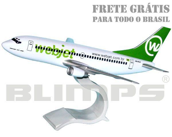 Maquete Boeing 737-300 Webjet - 30 cm  - BLIMPS COMÉRCIO ELETRÔNICO