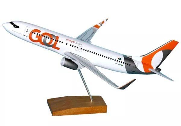 Maquete Boeing 737-800 GOL - Nova Pintura - 38 cm  - BLIMPS COMÉRCIO ELETRÔNICO