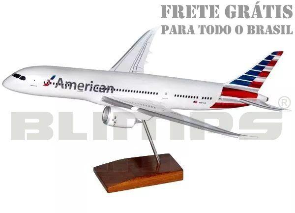 Maquete Boeing 787-8 American Airlines - 38 cm  - BLIMPS COMÉRCIO ELETRÔNICO