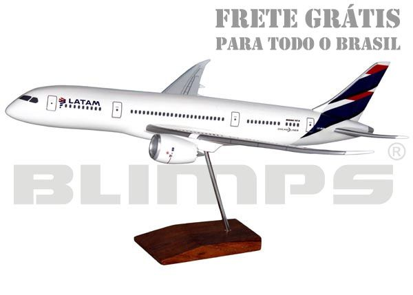 Maquete Boeing 787-8 LATAM - 38 cm  - BLIMPS COMÉRCIO ELETRÔNICO