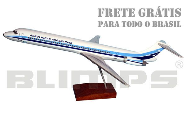 Maquete MD-88 Aerolíneas Argentinas - 42 cm  - BLIMPS COMÉRCIO ELETRÔNICO