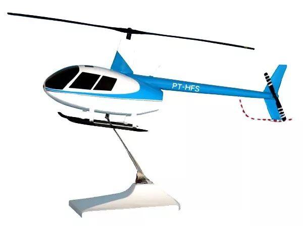 Maquete Robinson R44 PT-HFS - 22 cm  - BLIMPS COMÉRCIO ELETRÔNICO