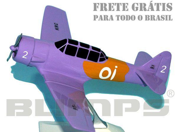 Maquete T-6D número 2 da Esquadrilha Oi - 17 cm  - BLIMPS COMÉRCIO ELETRÔNICO