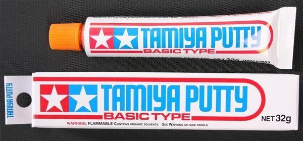 Massa Putty cinza (32g) - Tamiya 87053  - BLIMPS COMÉRCIO ELETRÔNICO