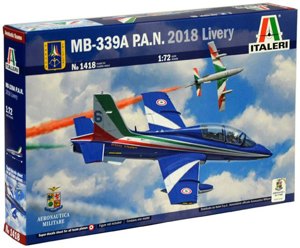 MB-339A P.A.N. 2018 Livery - 1/72 - Italeri 1418  - BLIMPS COMÉRCIO ELETRÔNICO