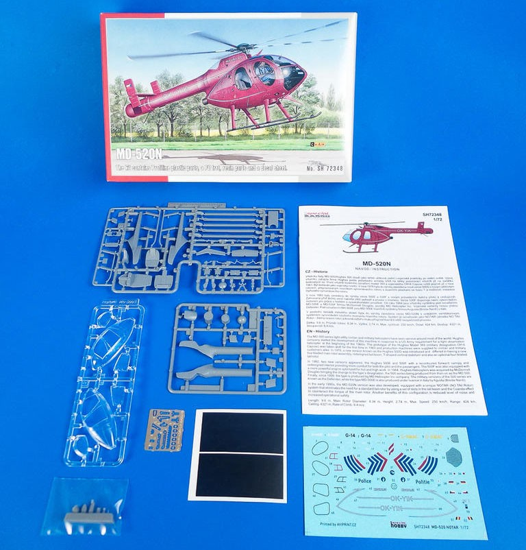 MD-520N - 1/72 - Special Hobby 72348  - BLIMPS COMÉRCIO ELETRÔNICO