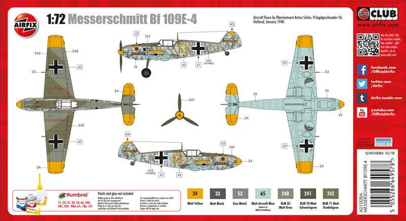 Messerschmitt Bf-109E-4 - 1/72 - Airfix A01008A  - BLIMPS COMÉRCIO ELETRÔNICO