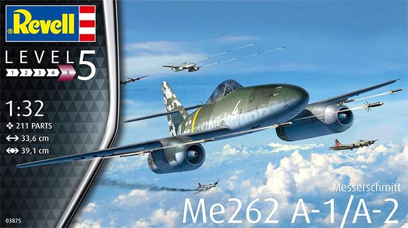 Messerschmitt Me262 A-1/A-2 - 1/32 - Revell 03875  - BLIMPS COMÉRCIO ELETRÔNICO