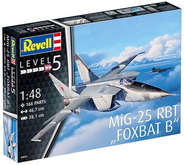 MiG-25 RBT Foxbat B - 1/48 - Revell 03931  - BLIMPS COMÉRCIO ELETRÔNICO