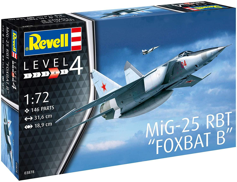 MiG-25 RBT Foxbat B - 1/72 - Revell 03878  - BLIMPS COMÉRCIO ELETRÔNICO