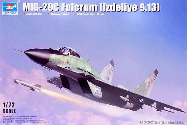 MIG-29C Fulcrum (Izdeliye 9.13) - 1/72 - Trumpeter 01675  - BLIMPS COMÉRCIO ELETRÔNICO