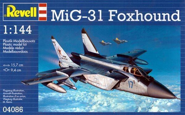 MiG-31 Foxhound - 1/144 - Revell 04086  - BLIMPS COMÉRCIO ELETRÔNICO